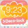 ロック画面を簡単に可愛く作れる deco lock